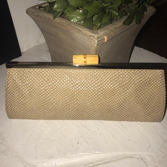 LOFT Handbags - Snakeskin clutch
